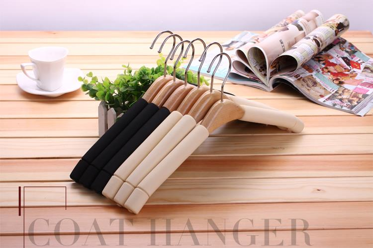 531621036944 solid wood non slip clothes hanger-10 PCS
