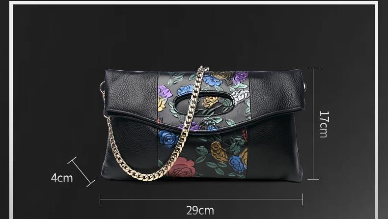 559387715265 female leather clutch bag - 3 floral designs expandable