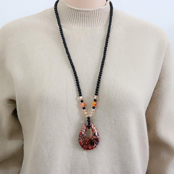 560885325145 new retro sweater chain necklace pendant