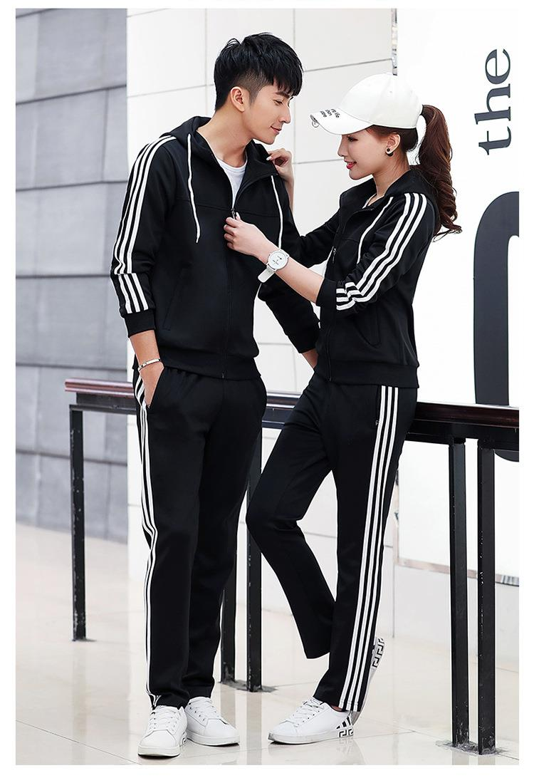 574175351588 Long sleeve hooded sportswear tracksuit