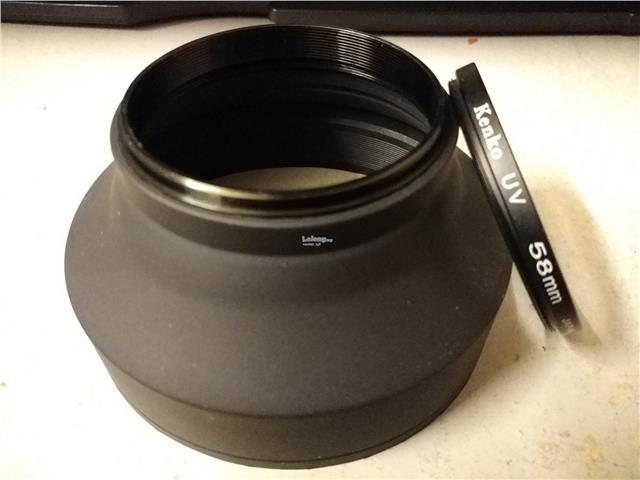 58mm Collapsible Rubber Lens Hood + UV Filter