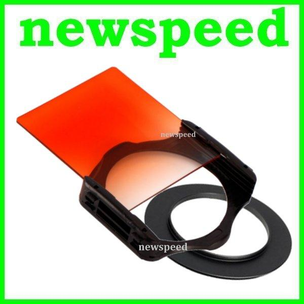 58mm SET Tianya Sunset Grad Orange Square Filter for Cokin P Series