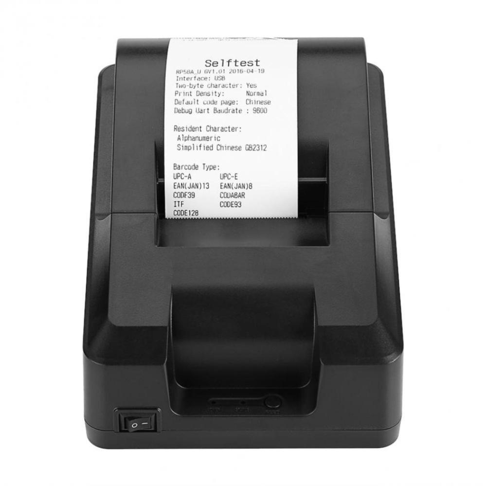 58mm Thermal Receipt Printer Handheld USB 70mm/sec Printing(EU Plug)