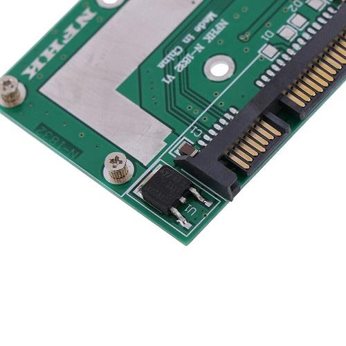 5cm Half Height mSATA Mini PCIe SSD to 2.5in SATA 3 Converter Card