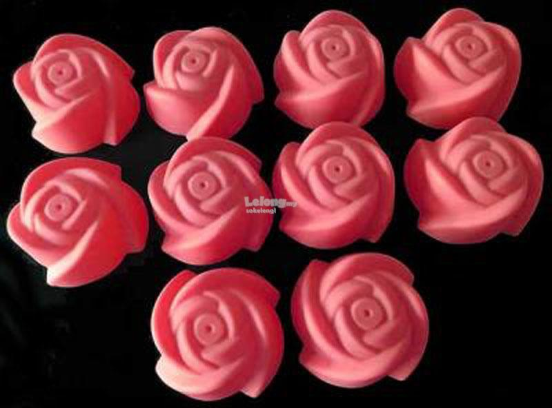 5cm Small Rose Flower Silicone Muffin Mould 10-in-1