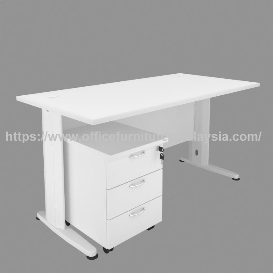 5ft White Office Desk Mobile 3 drawer | Office furniture Malaysia