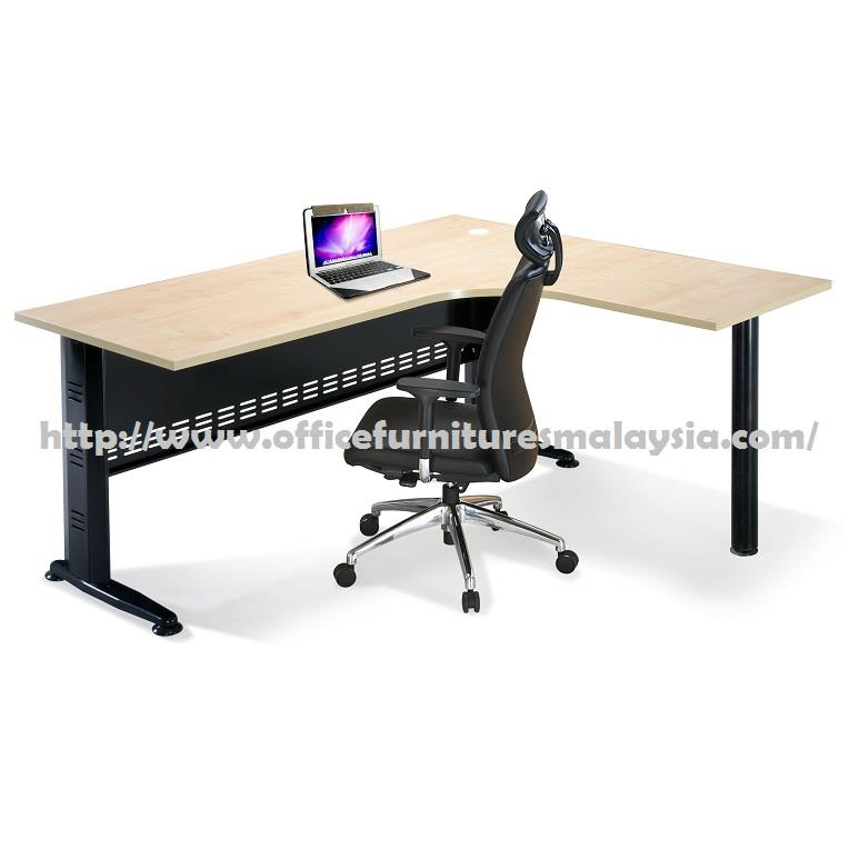 5ft x 5ft Simple L Shape Table Desk OFMQ1515 subang balakong rawang KL