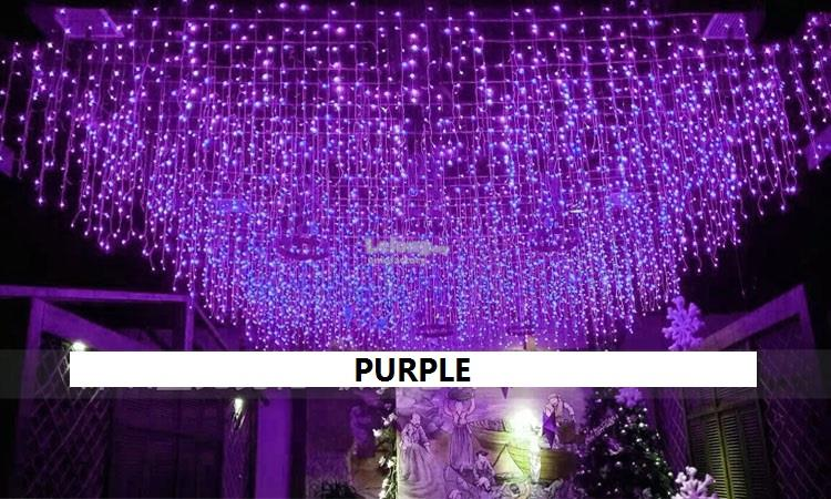 5M 216 LED Curtain Light Icicle String Christmas Festival Party Decor