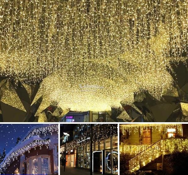 5m 216 Led Curtain Light Icicle String Hari Raya Party Decor