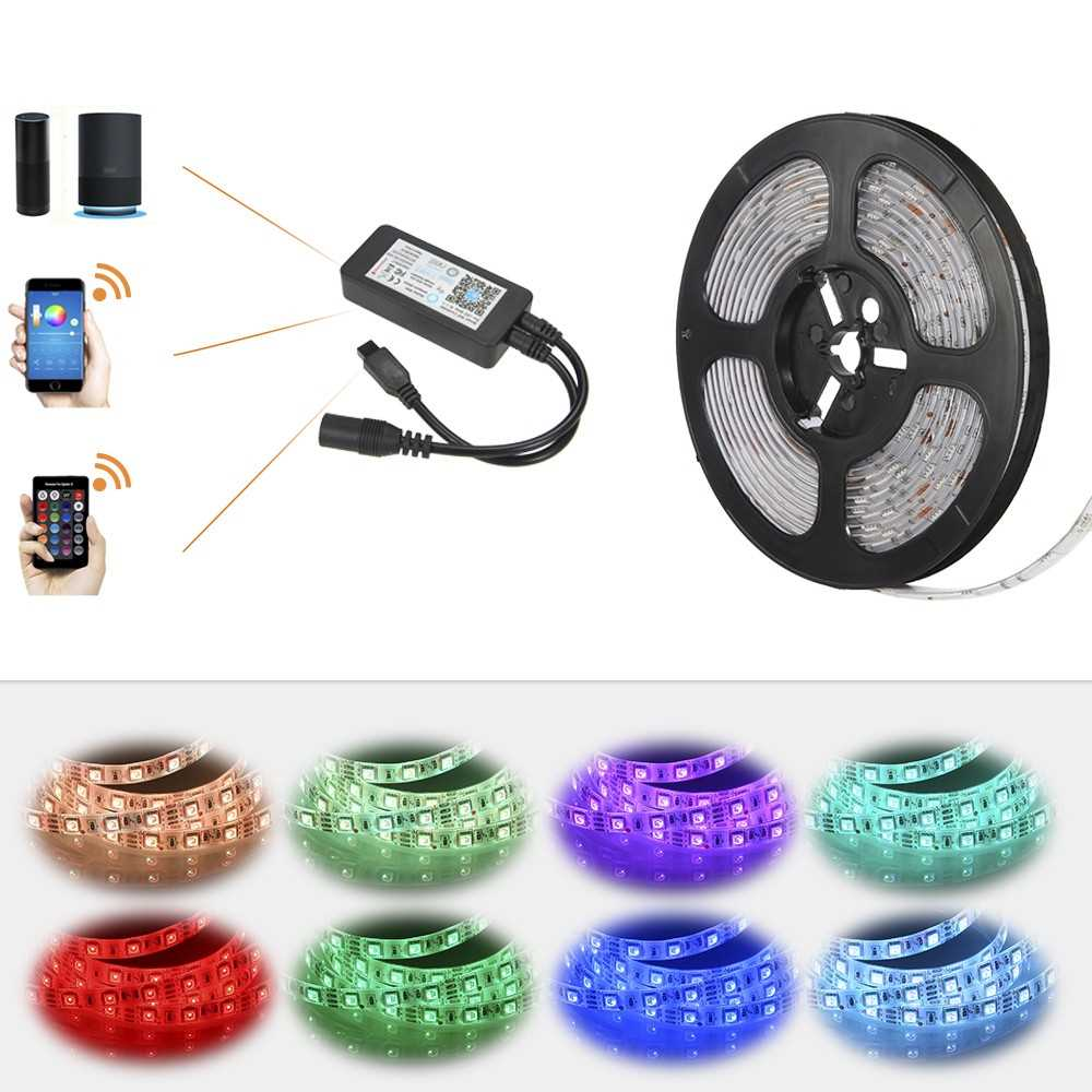 5M 300LEDs RGB APP WIFI Smart IR24 Keys Remote Control Lighting Strip