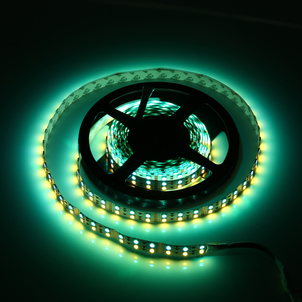 5M DOUBLE ROW 5050 SMD 600 RGB WHITE LED STRIP LIGHT FOR DECORATION (WARM WHIT