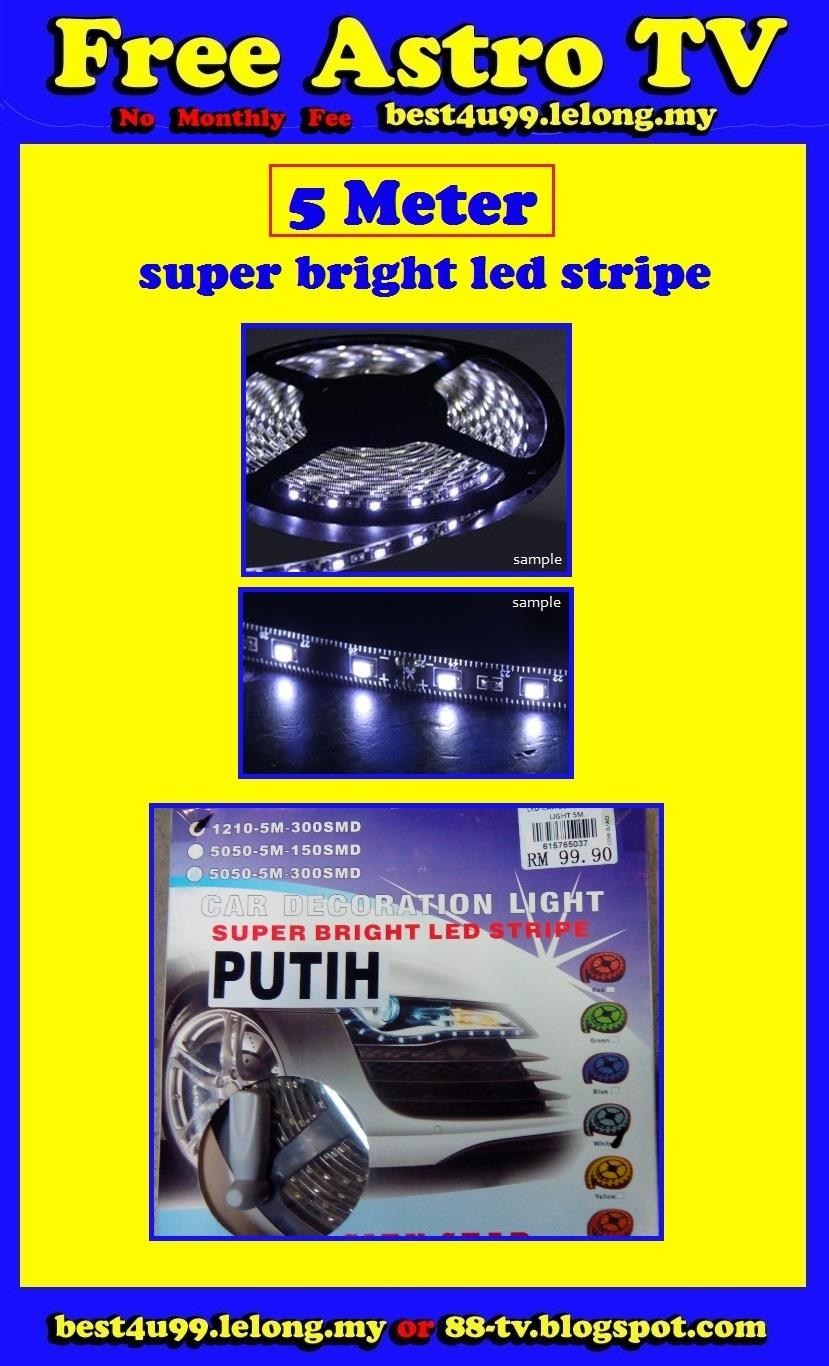 5M Super Bright LED Stripe Day Light Day Running Light DRL Angle Eye $