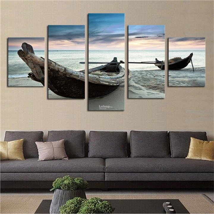 5PCS Large Ocean Ship Canvas Modern Home Decor Wall Art Oil Painting P