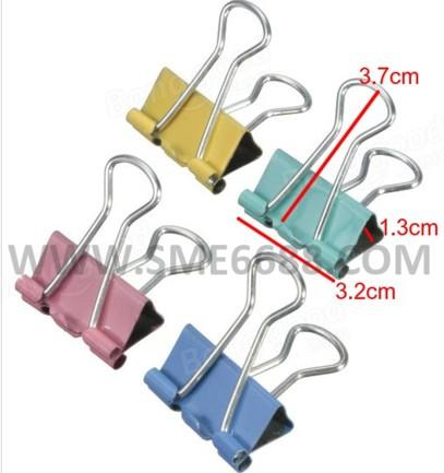 *5pcs Metal^Binder Clip Mix Color Paper Clips For Office And School
