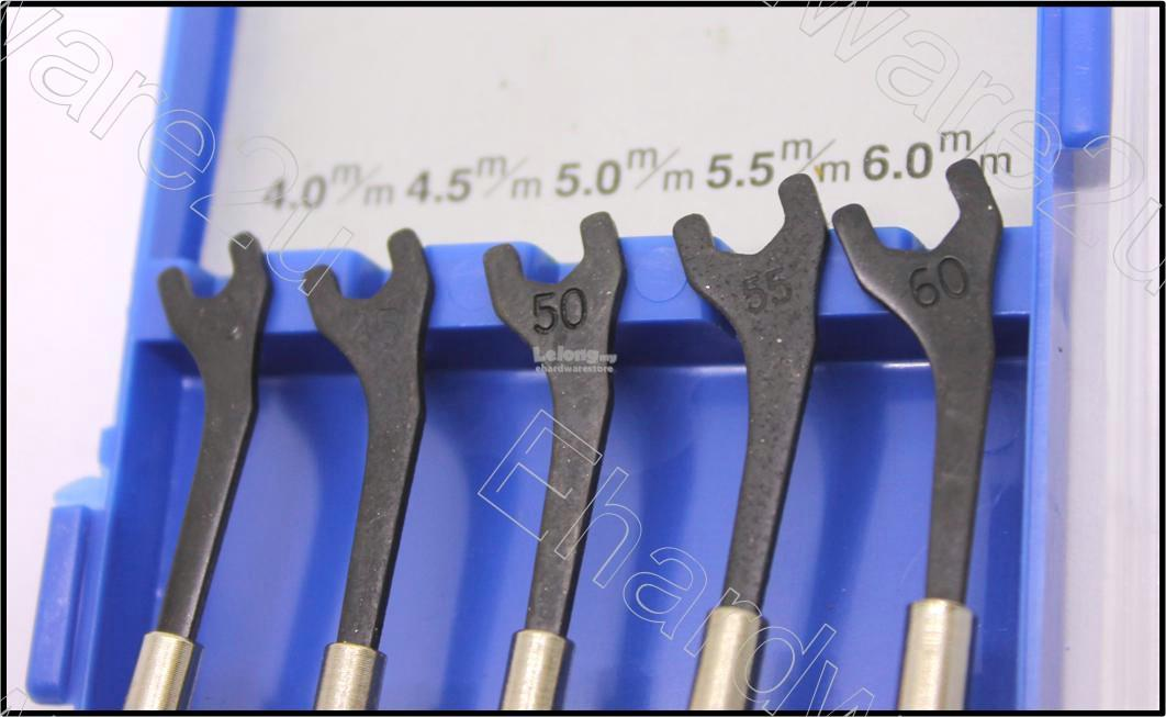 5Pcs Mini Open End Wrench Set 4mm-6mm (MS5-0406)
