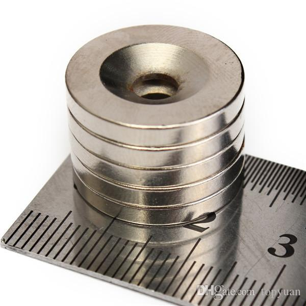 5pcs N35 20x3mm Strong Round Countersunk 5mm hole[5pcs]