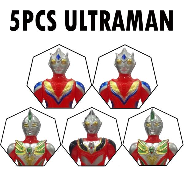 5pcs Ultraman Hero Team Large Collection Sortie Defend Peace