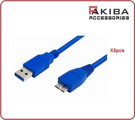 5pcs USB3.0 Cable AM to Micro BM