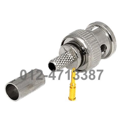 5units BNC MALE CRIMP CCTV PLUG CONNECTORS RG58 COAX COAXIAL WIRE