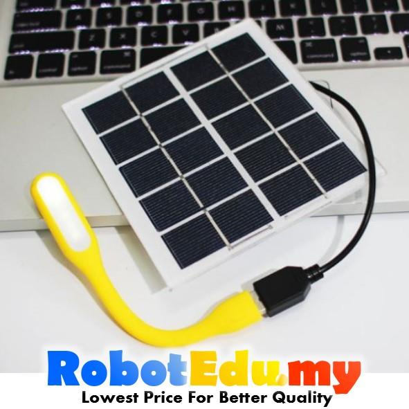 5v 6v 2w diy solar panel power supply to female usb plug