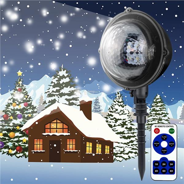Christmas Projector.5w 4 Led Snowflake Christmas Projector Snowfall Led Stage Light Landsc