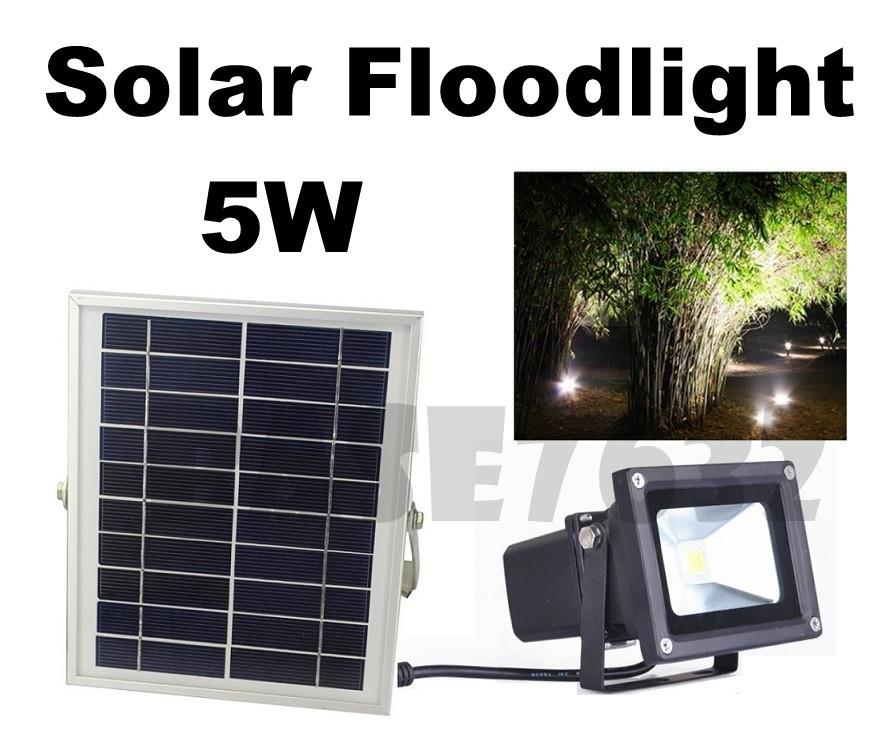 5w LED Waterproof Solar Floodlight Spotlight Flood Light Lamp 1903.1
