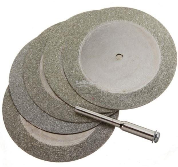 diamond bit. 5x 50mm diamond cutting discs and drill bit for rotary tool dremel sto