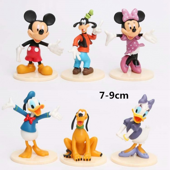 6 in 1 Mickey Mouse, Minnie Mouse, Donald Duck, Daisy Duck, Figurine S..