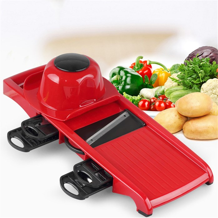 6 in 1 Multi Slicer Dicer Vegetable Cutter With Container
