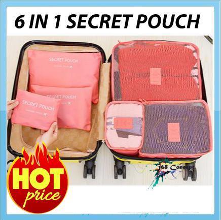 6 In 1 Travel Organizer Bag Pouch Secret T 0003