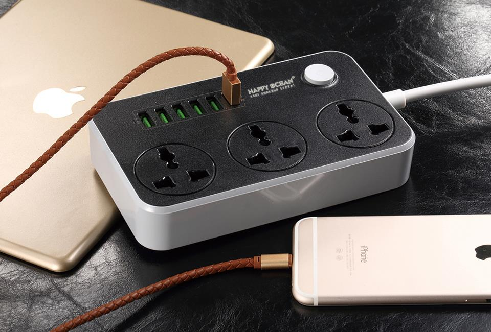 6+3 USB Power Socket Auto Max 3.4A Power Adapter