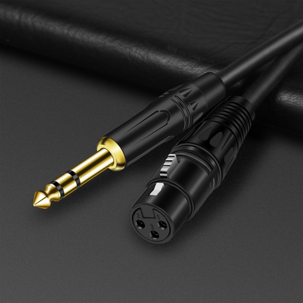 6.35 Mm 1/4 Inch Trs Male To Xlr Female Audio Stereo Mic Cabl - [1.0M]