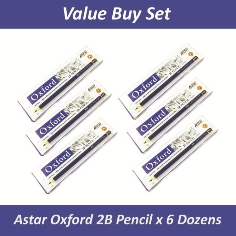 [6 Box] Astar Oxford P1600 2B Pencil for Office School Use