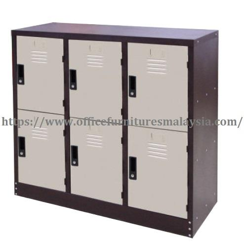 6 Compartment Half Height Steel Locker OFM127A kepong selayang cheras