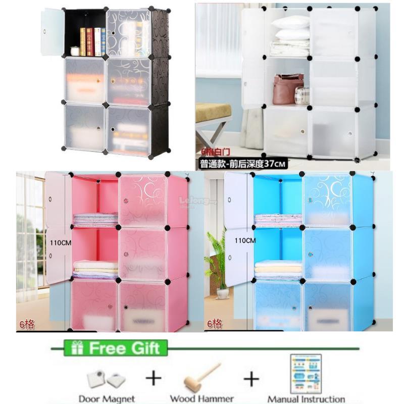 6 Cube DIY Storage Cabinet Wardrobe