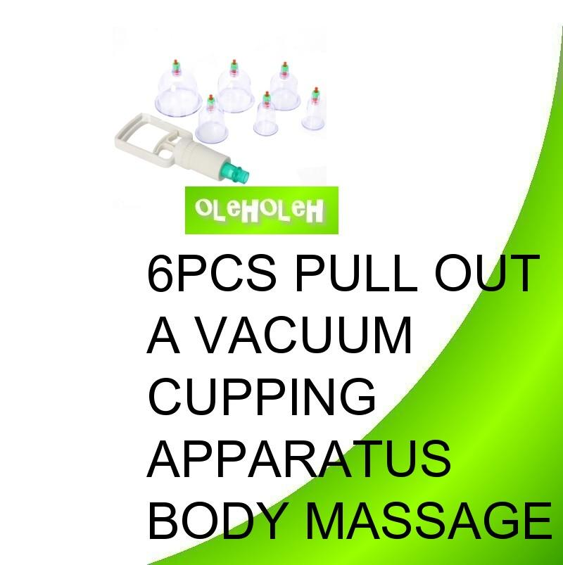 6 cups Chinese Cupping Vacuum Therapy Traditional Set