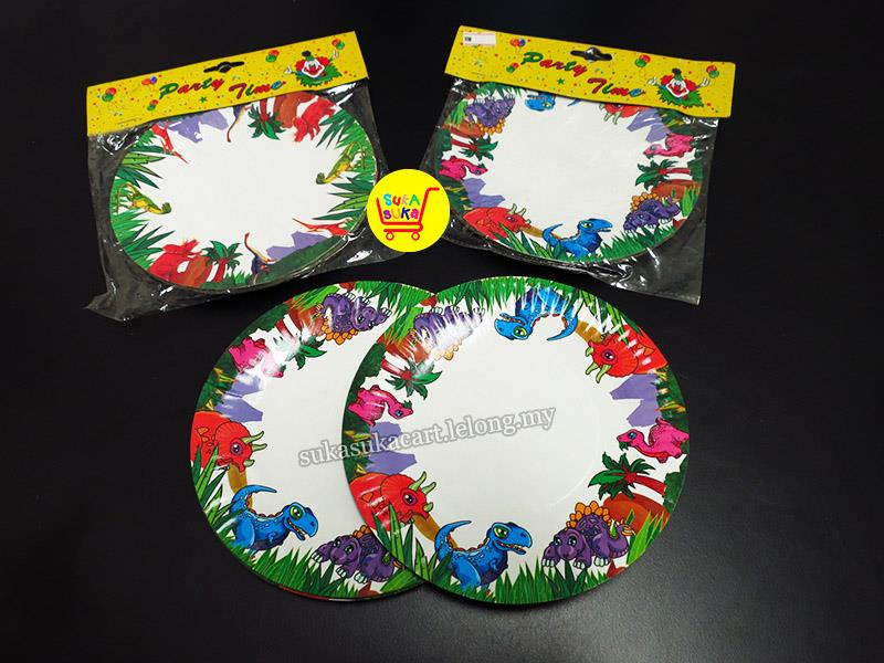 6\  Dinosaur Party Paper Plates for Cake/Dessert ... & 6\