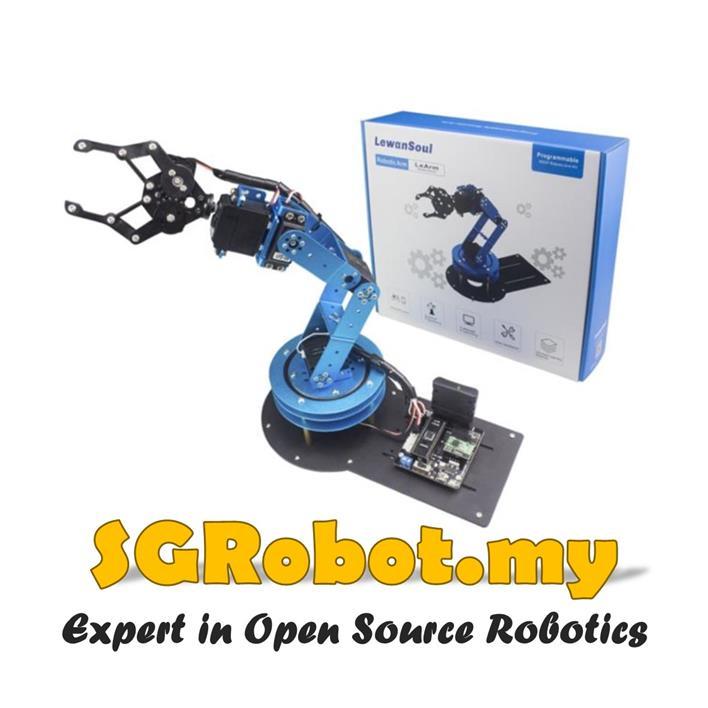 6 DoF Robot Arm DIY Set ,Robotics Hand Gripper Arduino Learning RC Kit