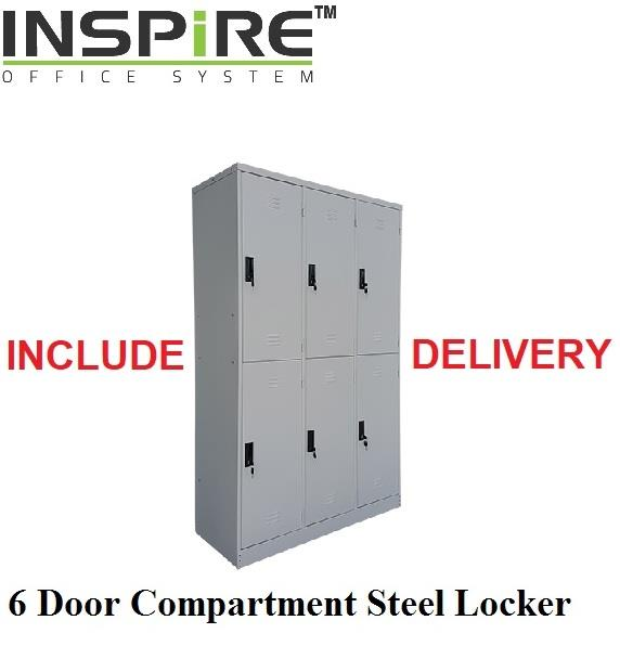 6 Door Compartment Steel Locker