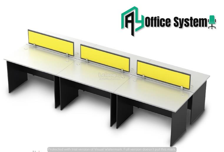 6 Feet Rectangular Shape Office Table Partition Workstation - R 15