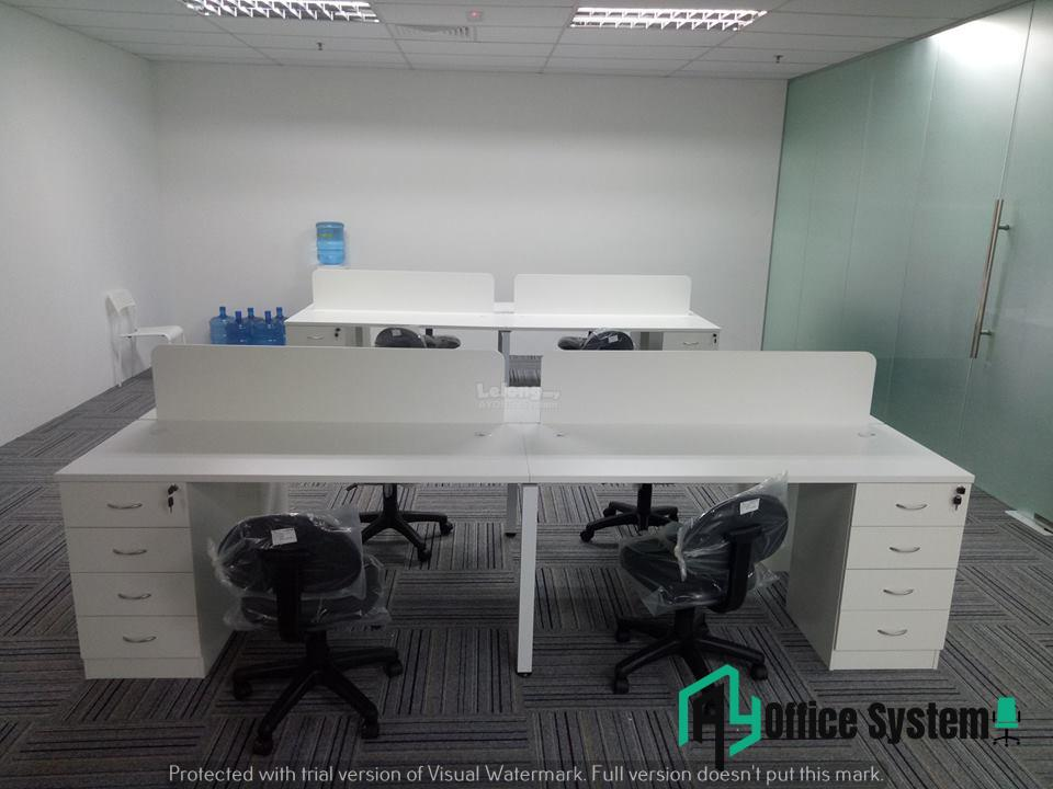 6 Feet Rectangular Shape Office Table Partition Workstation - R 19