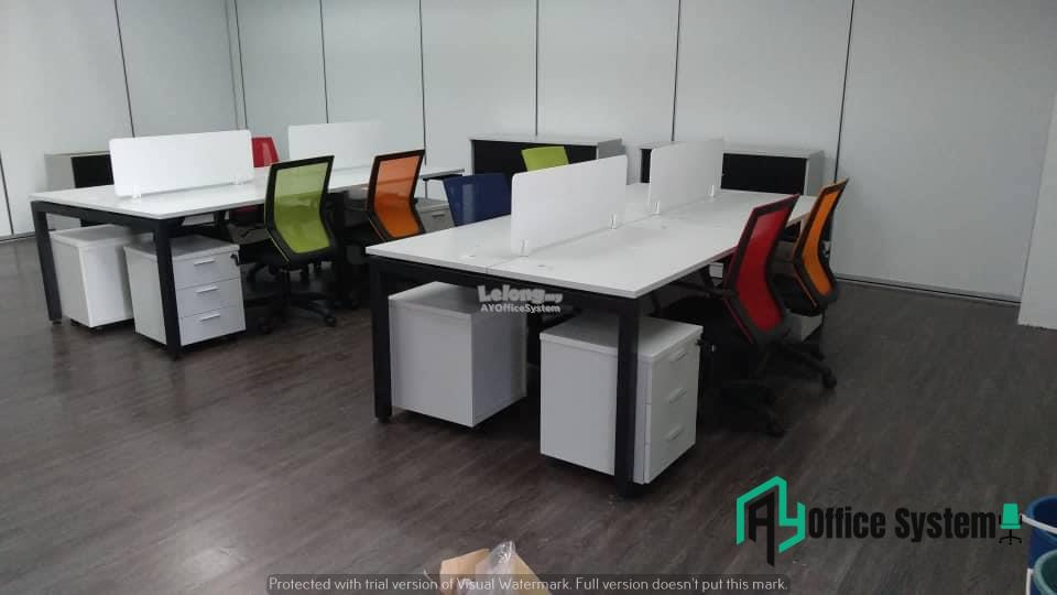 6 Feet Rectangular Shape Office Table Partition Workstation - R 22