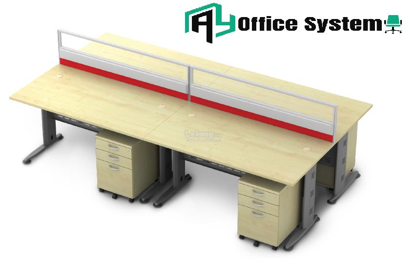6 Feet Rectangular Shape Office Table Partition Workstation - R 23