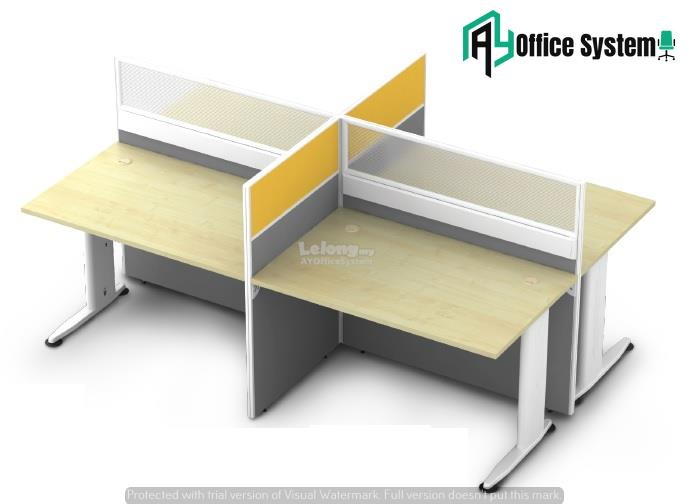 6 Feet Rectangular Shape Office Table Partition Workstation - R 25