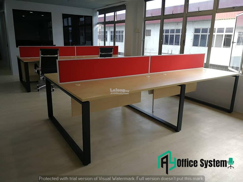 6 Feet Rectangular Shape Office Table Partition Workstation - R 26