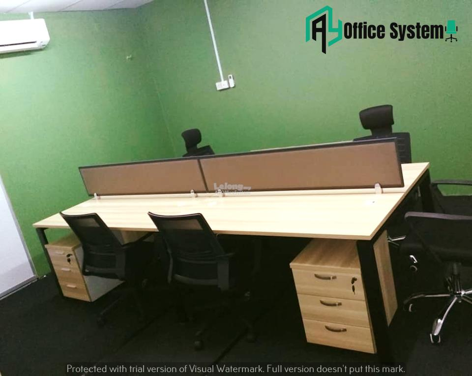 6 Feet Rectangular Shape Office Table Partition Workstation - R 27