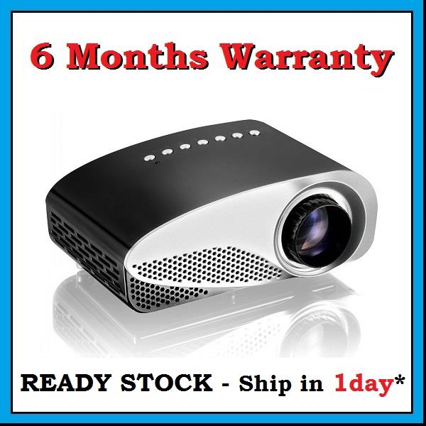 [6 Months Warranty] RD802 HDMI VGA SD USB LED Mini Projector