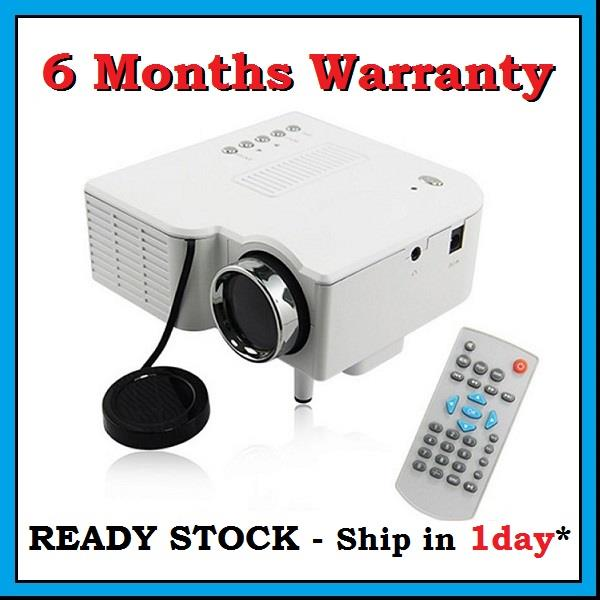 [6 Months Warranty] UC28+ HDMI SD USB LED Home Theater Mini Projector