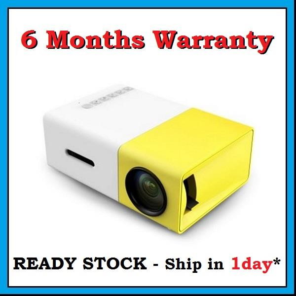 [ 6 Months Warranty ] YG300 HDMI VGA USB Mini Portable LED Projector