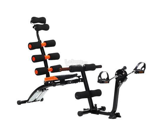 6 PACK CARE Exercise Bench Sit Up Gym Fitness Machine With Exercise